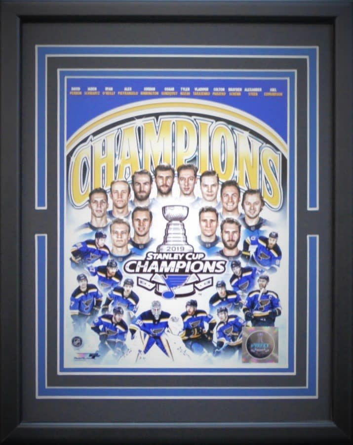 ST. LOUIS BLUES 2019 STANLEY CUP CHAMPIONS 11X14 FRAME