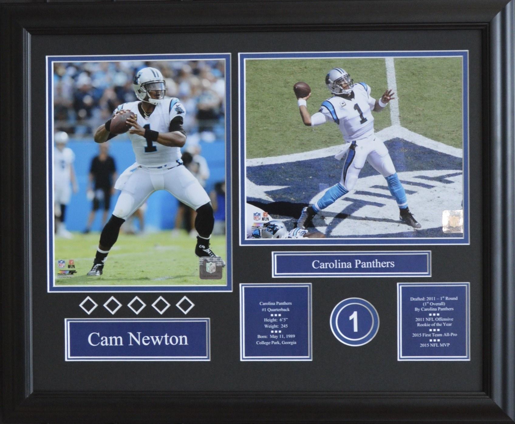 CAM NEWTON 16X20 FRAME - CAROLINA PANTHERS