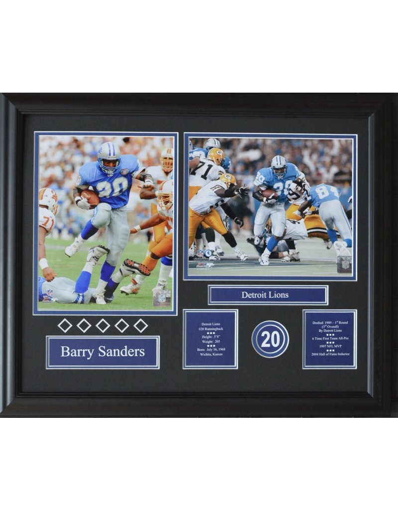 BARRY SANDERS 16X20 FRAME - DETROIT LIONS