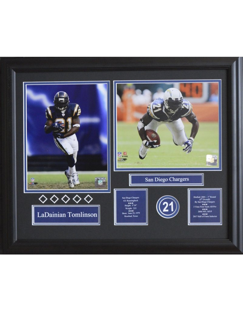 LADAINIAN TOMLINSON 16X20 FRAME - SAN DIEGO CHARGERS