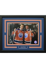 "CONNOR MCDAVID & WAYNE GRETZKY 11X14 FRAME - EDMONTON OILERS ""REXALL PLACE FINAL GAME"""
