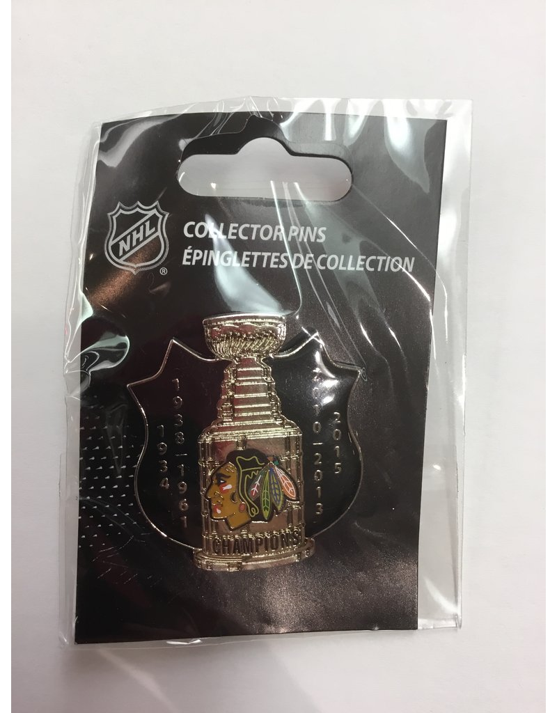 STANLEY CUP LAPEL PIN CHICAGO BLACKHAWKS