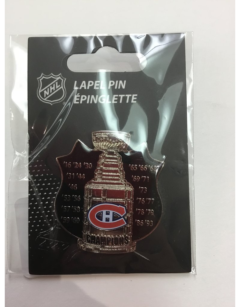STANLEY CUP LAPEL PIN MONTREAL CANADIENS