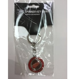 SPINNER KEYCHAIN DETROIT REDWINGS