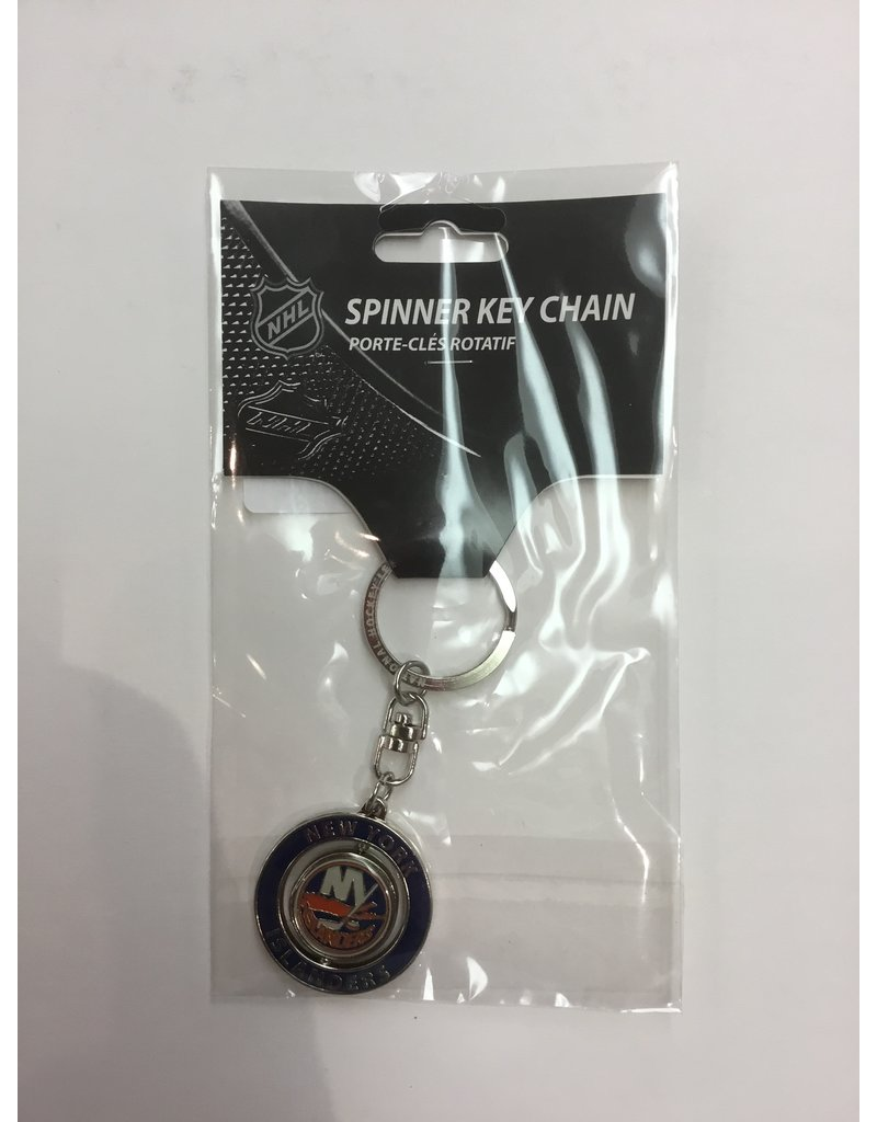 SPINNER KEYCHAIN NEW YORK ISLANDERS