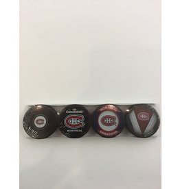 4 PUCK COLLECTION MONTREAL CANADIENS