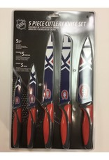 5 PIECE KNIFE SET MONTREAL CANADIENS