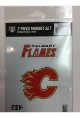 2 PACK MAGNET SET CALGARY FLAMES