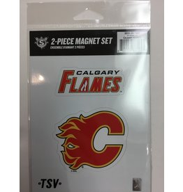 2 PACK MAGNET SET CALGARY FLAMES