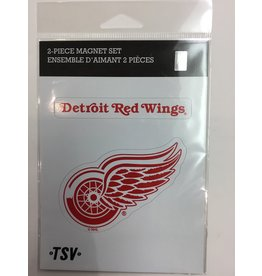 2 PACK MAGNET SET DETROIT RED WINGS