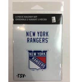 2 PACK MAGNET SET NEW YORK RANGERS