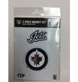 2 PACK MAGNET SET WINNIPEG JETS
