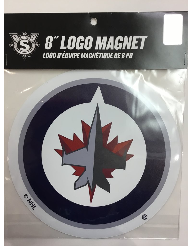 8 INCH CAR MAGNET WINNIPEG JETS