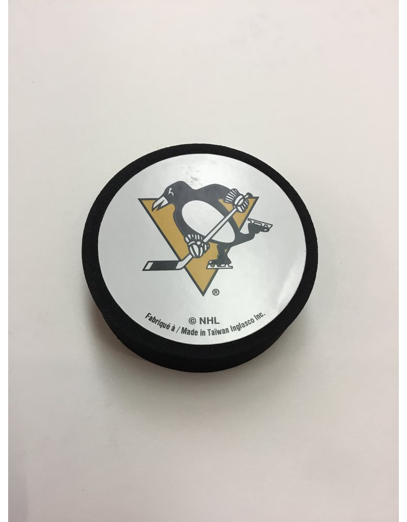 FOAM PUCK PITTSBURGH PENGUINS
