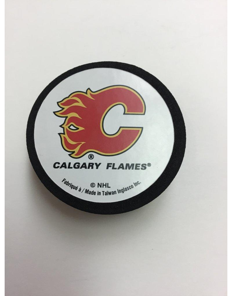 FOAM PUCK CALGARY FLAMES