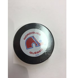 ASSORTED PUCK QUEBEC NORDIQUES