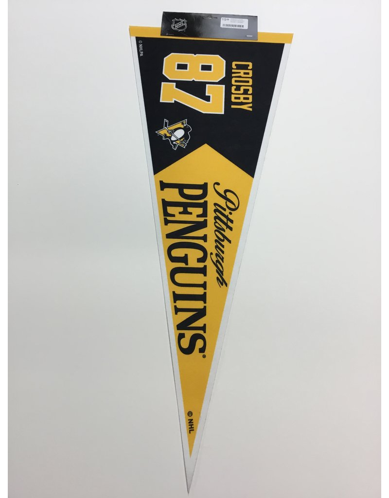 12 X 30 PLAYER PENNANT SIDNEY CROSBY