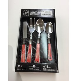 16 PC FLATWARE SET CALGARY FLAMES