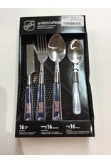 16 PC FLATWARE SET EDMONTON OILERS