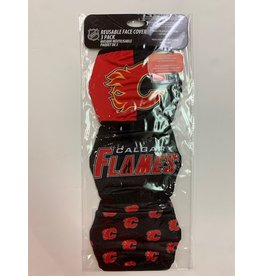 CALGARY FLAMES FACE MASK COVERINGS 3 PACK