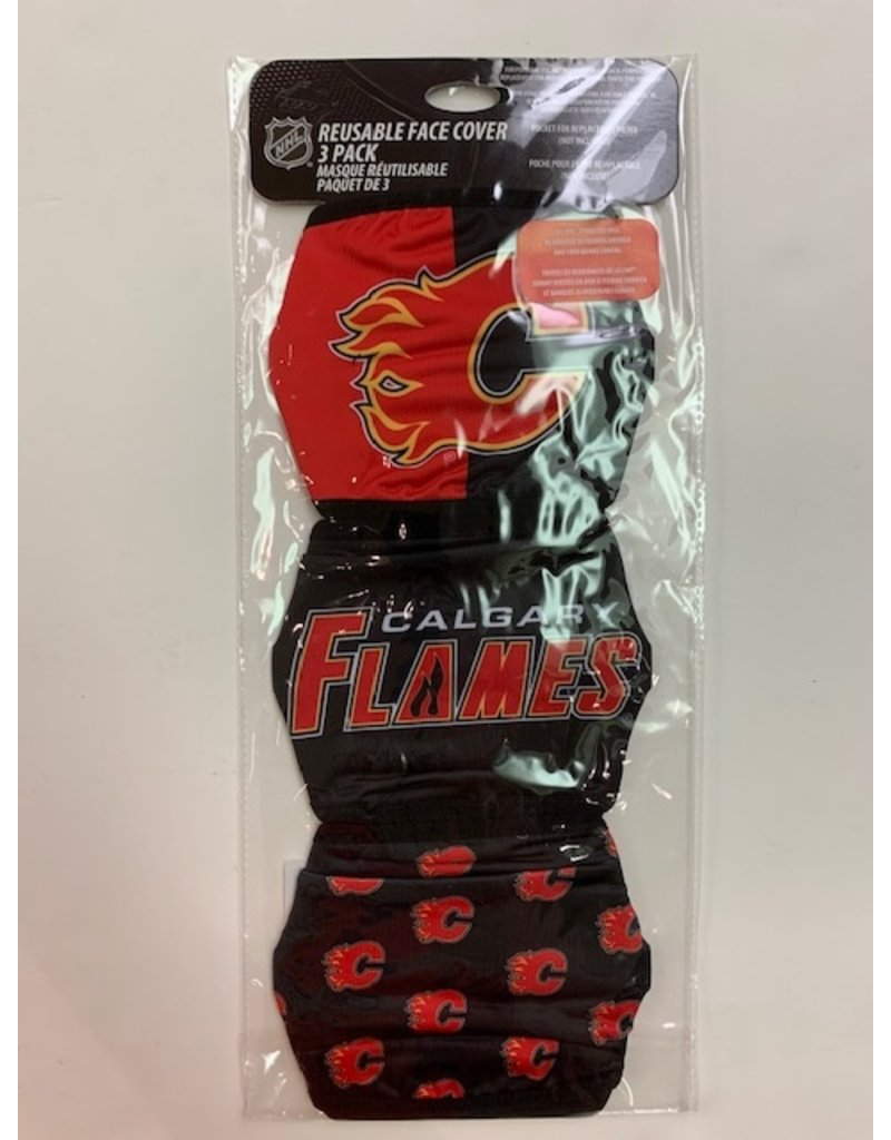 CALGARY FLAMES FACE COVERINGS 3 PACK