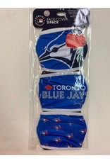 TORONTO BLUE JAYS FACE MASK COVERINGS 3 PACK
