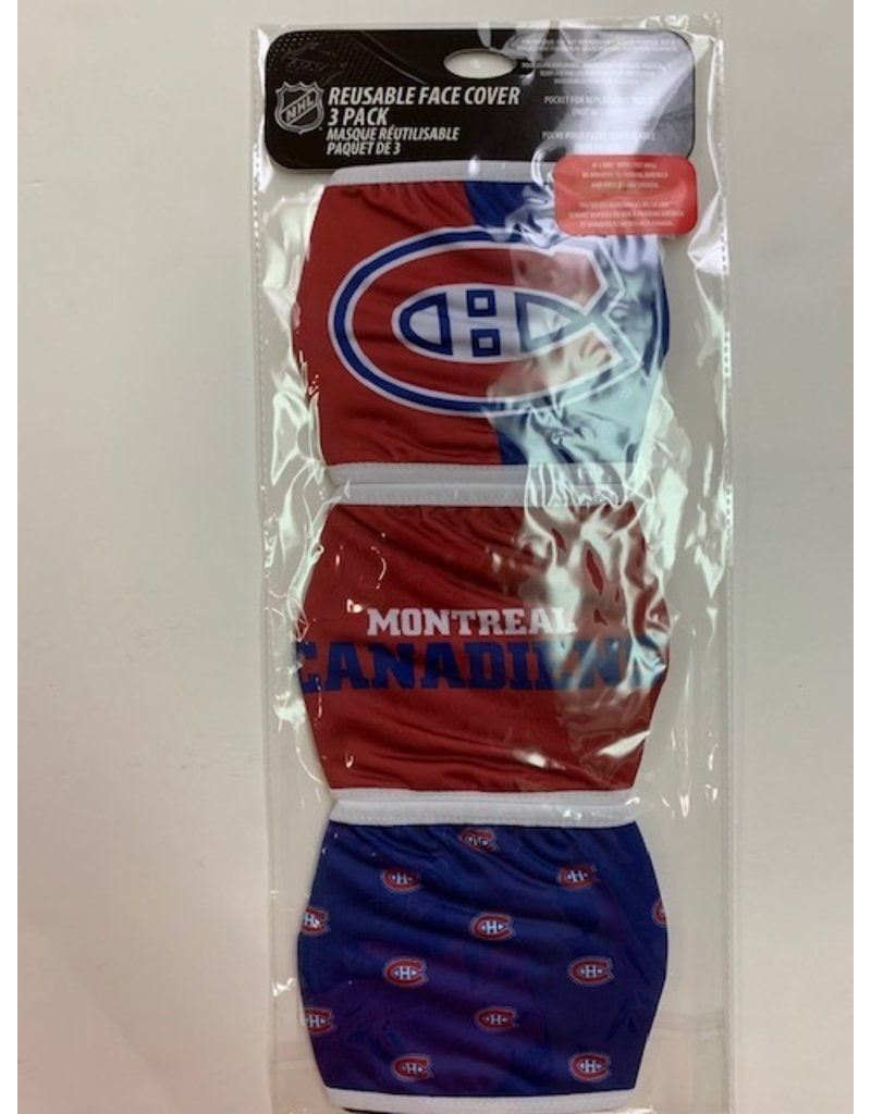 MONTREAL CANADIENS FACE MASK COVERINGS 3 PACK