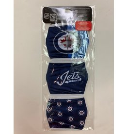 WINNIPEG JETS FACE COVERINGS 3 PACK