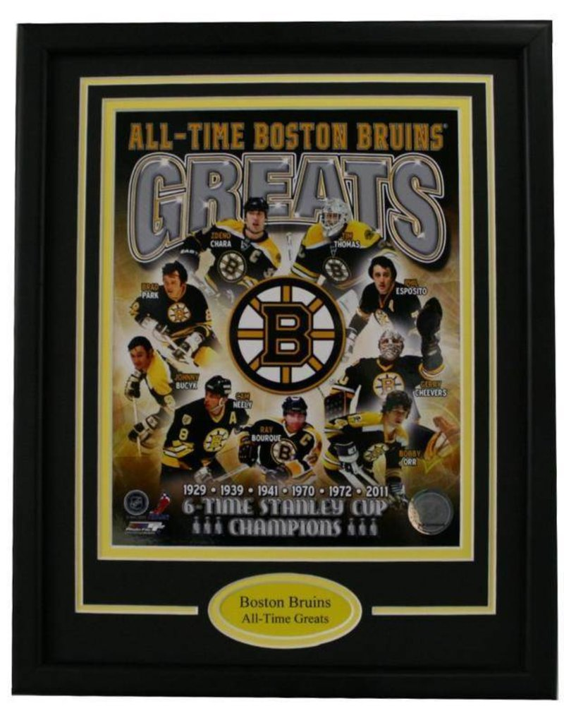 BOSTON BRUINS ALL-TIME GREATS 11X14 FRAME
