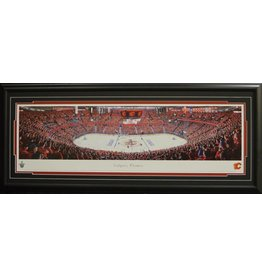 CALGARY FLAMES SCOTIABANK SADDLEDOME SEA OF RED PANORAMA 16X42 FRAME