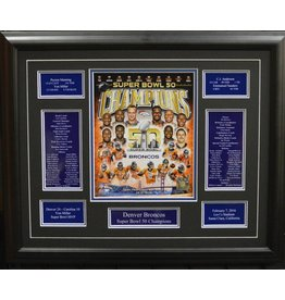 DENVER BRONCOS SUPER BOWL 50 COMPOSITE 16X20 FRAME