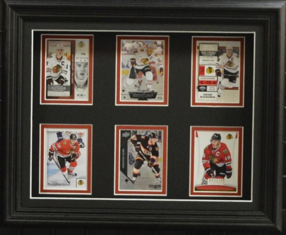 JONATHAN TOEWS 11X14 SHADOWBOX FRAME - CHICAGO BLACKHAWKS