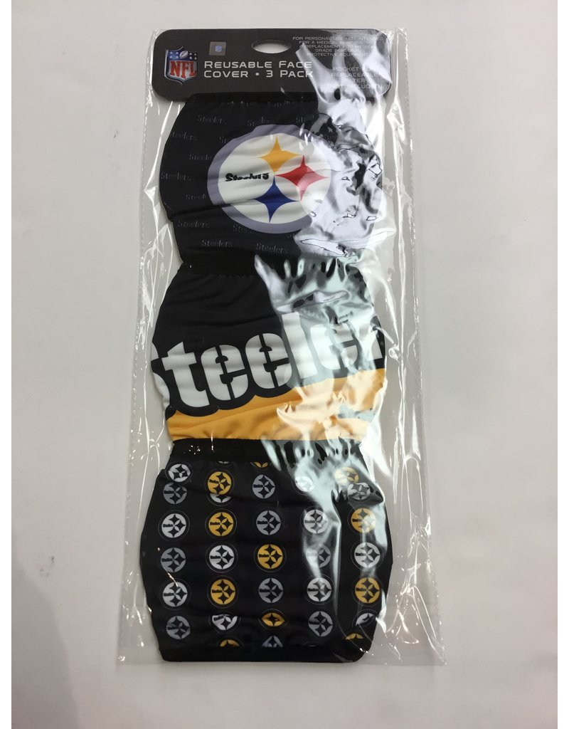 PITTSBURGH STEELERS FACE MASK COVERINGS 3 PACK