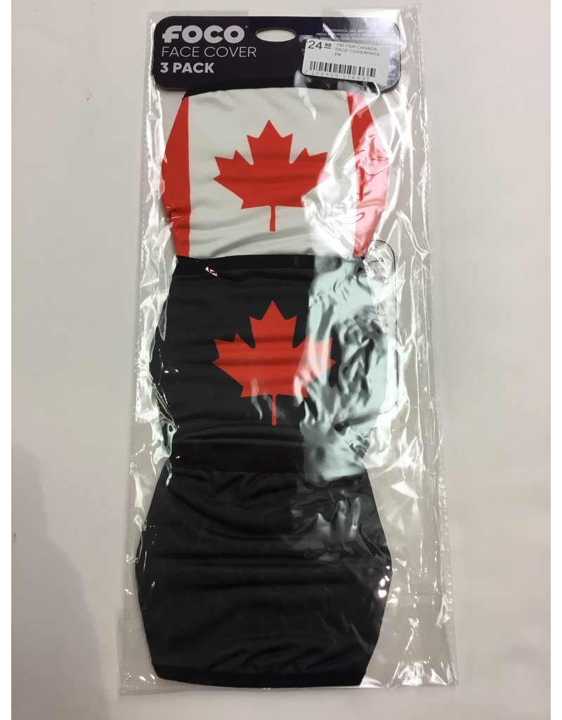 CANADA FACE MASK COVERINGS 3 PACK