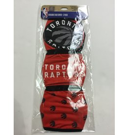 TORONTO RAPTORS FACE MASK COVERINGS 3 PACK