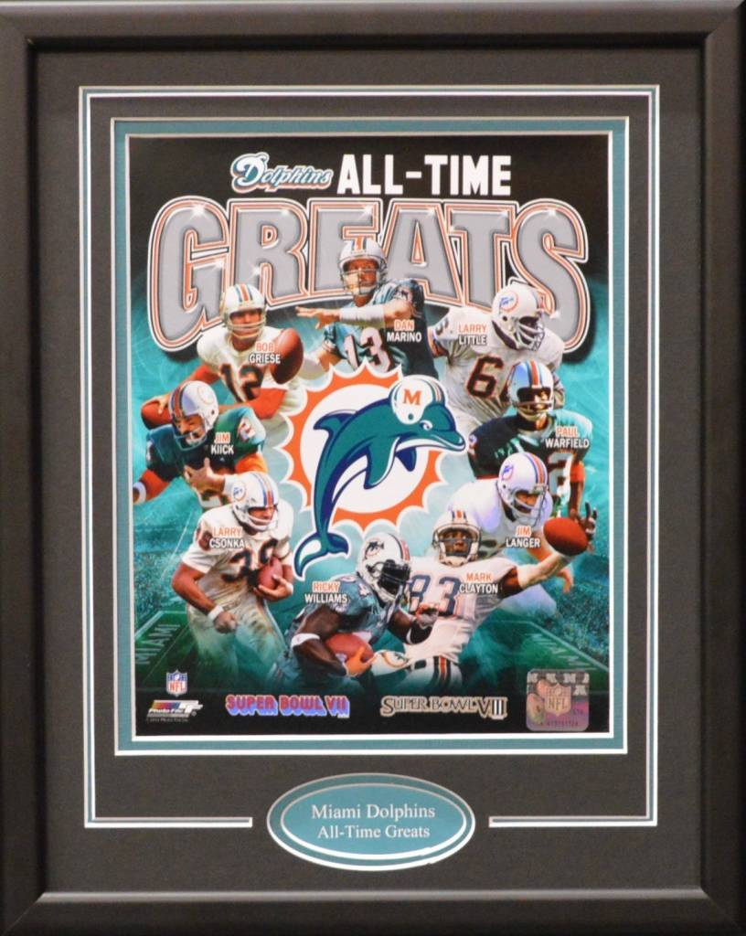 MIAMI DOLPHINS ALL-TIME GREATS 11X14 FRAME