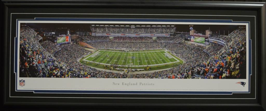 NEW ENGLAND PATRIOTS GILLETTE STADIUM PANORAMA 16X42 FRAME