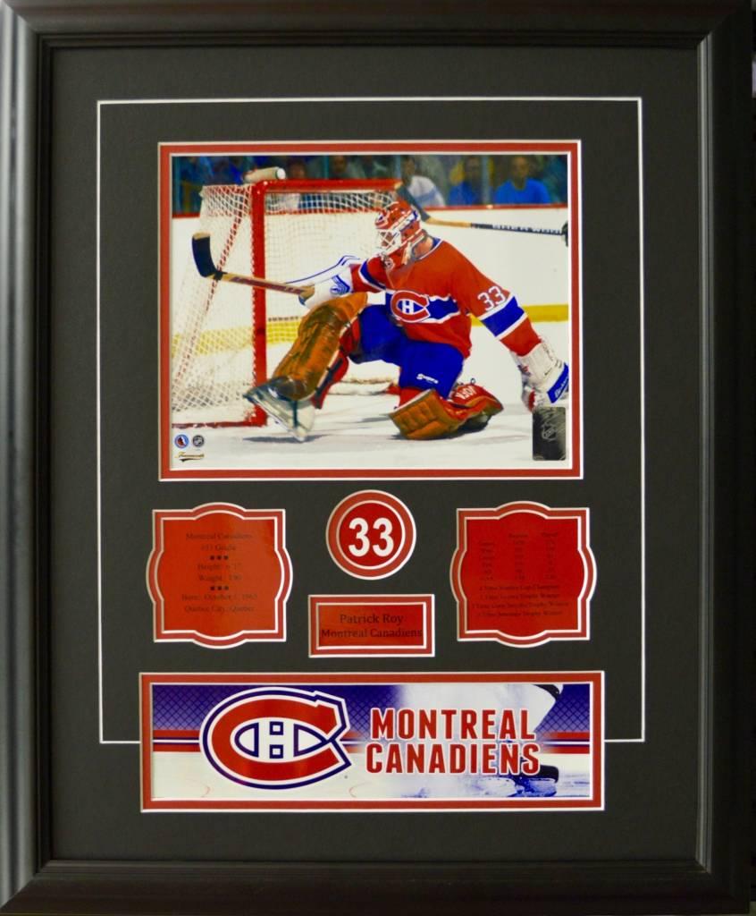 PATRICK ROY 16X20 FRAME - MONTREAL CANADIENS