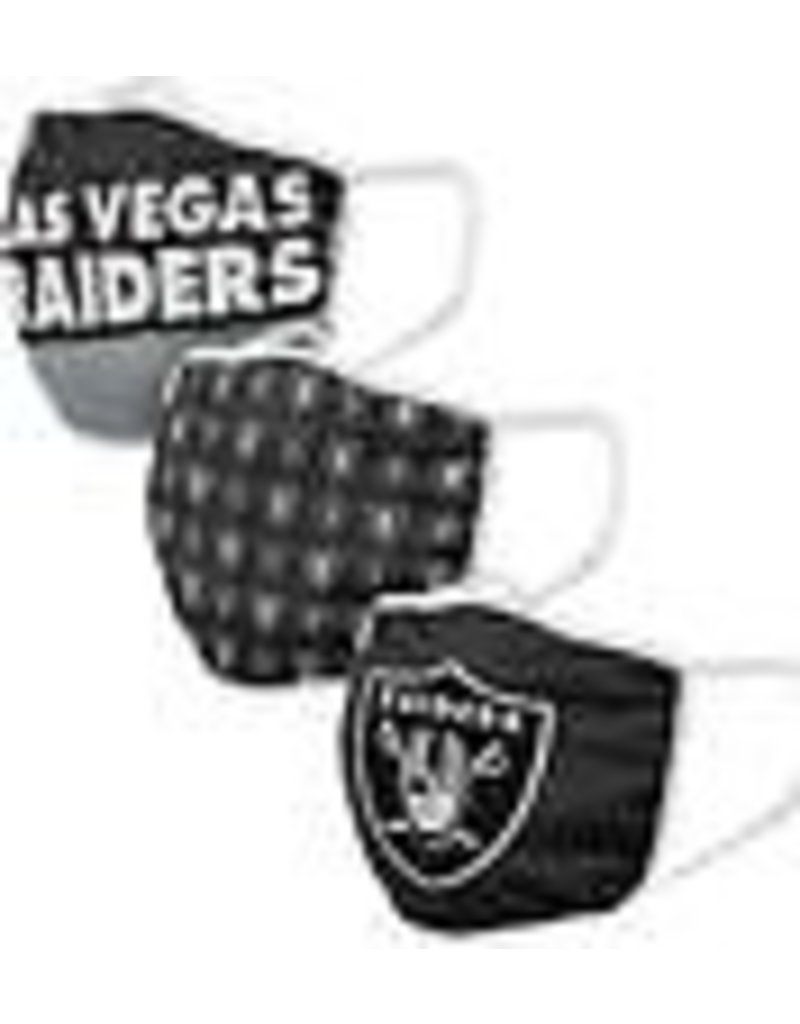 LAS VEGAS RAIDERS FACE MASK COVERINGS 3 PACK