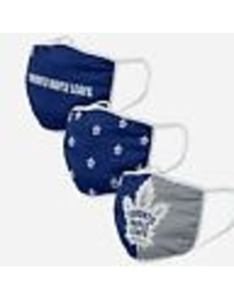 TORONTO MAPLE LEAFS YOUTH FACE MASK COVERINGS 3 PACK