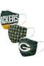 GREEN BAY PACKERS FACE MASK COVERINGS 3 PACK