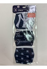 NEW YORK YANKEES FACE MASK COVERINGS 3 PACK