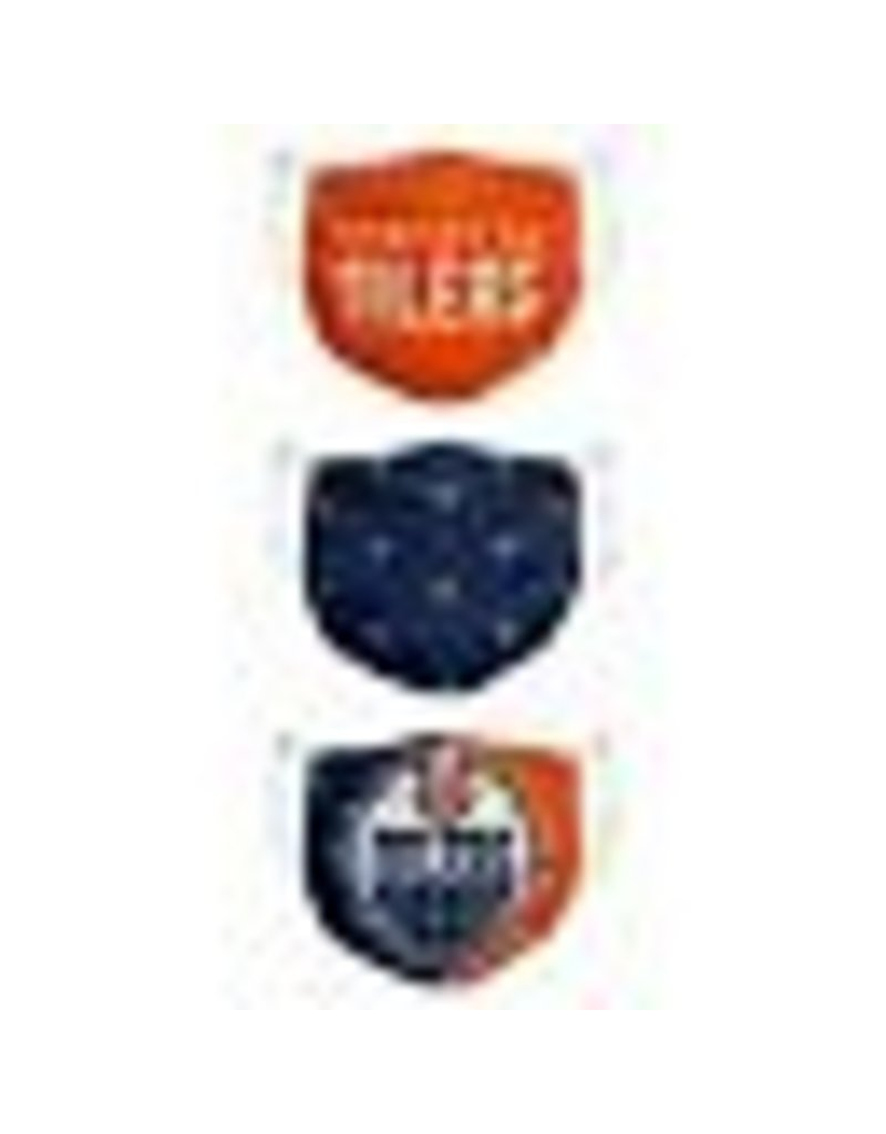 EDMONTON OILERS FACE MASK COVERINGS 3 PACK