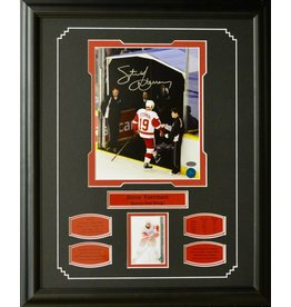 "STEVE YZERMAN AUTOGRAPH ""FINAL STEP"" 16X20 FRAME - DETROIT RED WINGS"