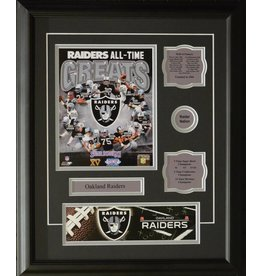 OAKLAND RAIDERS ALL-TIME GREATS 16X20 FRAME