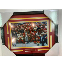 CALGARY FLAMES 1989 STANLEY CUP CHAMPS 11X14 FRAME