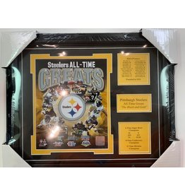 PITTSBURGH STEELERS ALL-TIME GREATS 13X16 FRAME