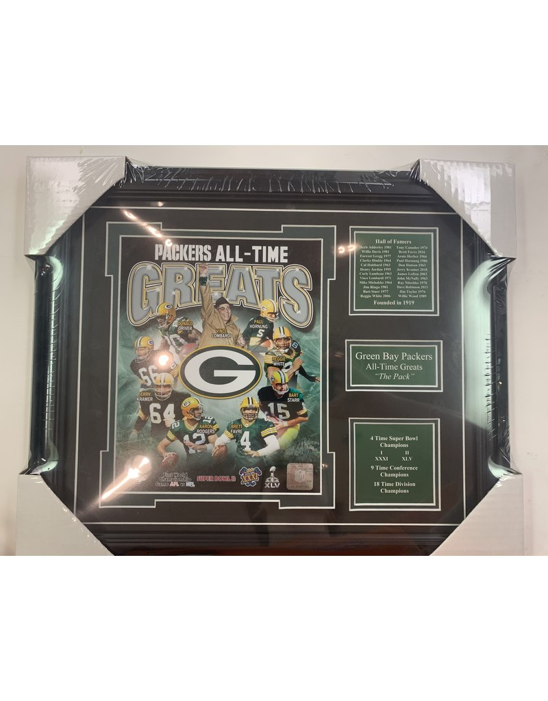 GREEN BAY PACKERS ALL-TIME GREATS 13X16 FRAME