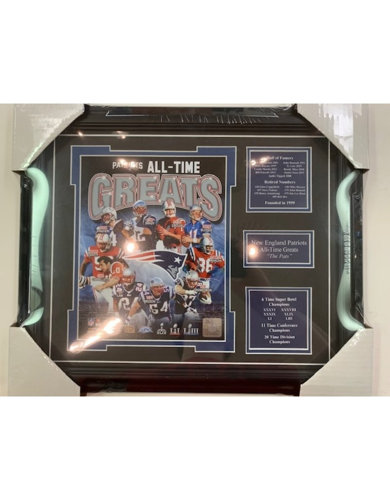NEW ENGLAND PATRIOTS ALL-TIME GREATS 13X16 FRAME