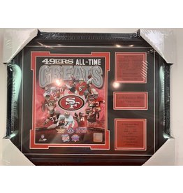 SAN FRANCISCO 49ERS ALL-TIME GREATS 13x16 FRAME